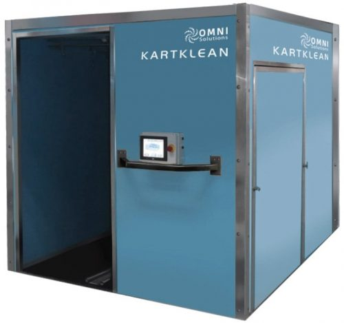OMNI KARTKLEAN Optimum Mechanical Laundry Cart Cleaning